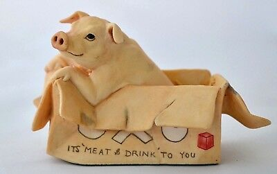 Border Fine Arts Pig *nugent* James Herriot Jh12 'all Creatures..' In 'oxo' Box