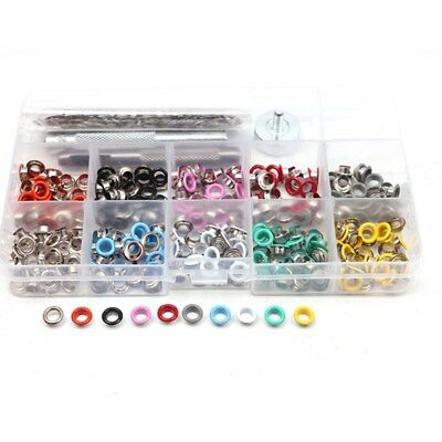 300pcs 5mm Grommets Kit Colorful Durable Metal Eyelets Button for Clothing Shoes
