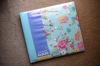 Lincraft Expandable 12x12 Scrapbook Album - Blue Flowers - Top Loading Pages