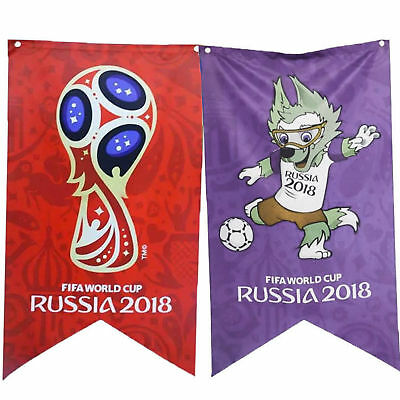 2018 FiFA Russia World Cup Bunting Of Emblem Mascot Flags Party Home Decor AU