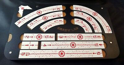 X-wing 2.0 templates and magnetic tray -Birchwood top