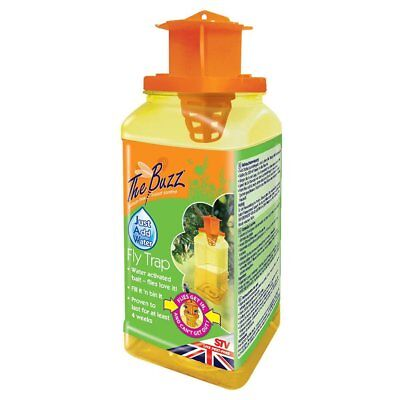 The Buzz Jaw Fly Trap Super Effective Fly Catcher, Disposable Insect Attractant,