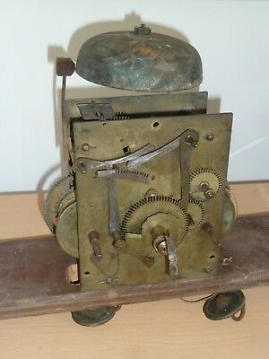 Antique 8 day longcase movement with centre seconds - for spares