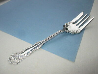 1904 Berwick Diana Rogers Silver Plate Sliced Hot Cold Meat Fork A Keeper