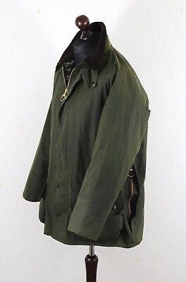 Vntg BARBOUR A150 BEAUFORT Waxed JACKET size C42  / 107 cm Green Made in England