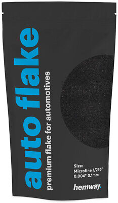 "Hemway Metal Flake Black 0.004"" MICROFINE 100g Auto Bike Glitter Paint"