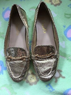 Next Girls gold party shoes size 2
