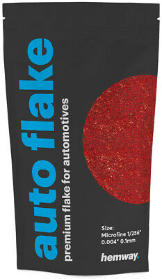 "Hemway Metal Flake Red Holographic 0.004"" MICROFINE 100g Auto Car Glitter Paint"