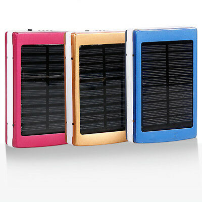 8000mAh Solar Power Bank Waterproof Portable Fast Charger for Phone