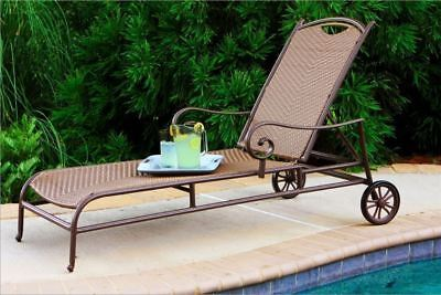 Tortuga Outdoor Stonewick All Weather Wicker Outdoor Chaise Lounge Chair Pool