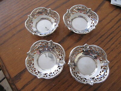 Set of Four Sterling Silver Roden Bros. Birks Nut Dishes