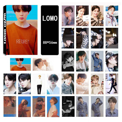 30pcs set Kpop JIMIN BTS FAKE LOVE Lomo Card Collective Paper Photocards
