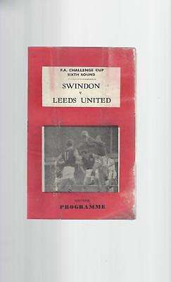 Swindon Town v Leeds United FA Cup 1969/70 Football Programme Pirate