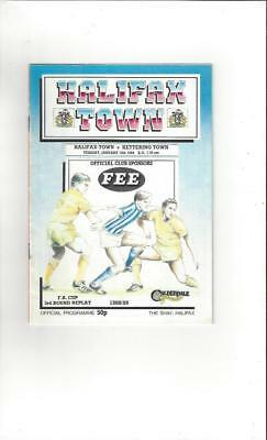 Halifax Town v Kettering FA Cup 1988/89 Football Programme