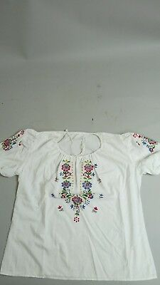 Authentic Mexican ethnic summer embroidered shirt