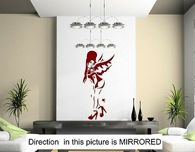 Banksy Style A Tribute To Amy Winehouse - Large Wall Stickers. Many colours. New