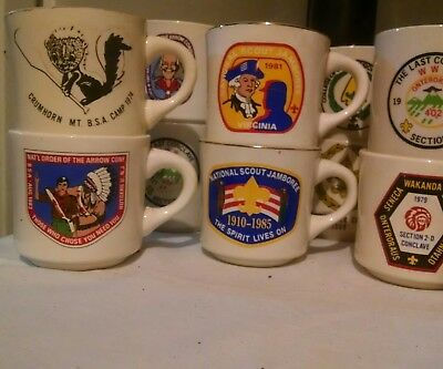 VINTAGE BSA Boy Scouts of America Lot of 40+ Coffee Mugs
