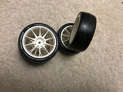 4 New Old Stock Tamiya Wheels and Slick Tyres for touring car in good condition