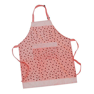 Cooksmart Cotton Apron with Pocket Cooking Baking KItchen Chef Pink