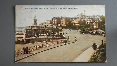 R&L Postcard: Photochrom, Bournemouth Entrance to Pier from New Drive Used 1910