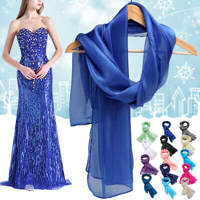 Elegant Chiffon Wrap Stole Scarf Shawl Wedding Bridal Bridemaid Evening Wearing