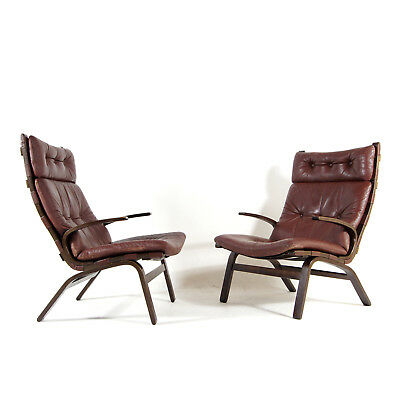 1 SOLD Retro Vintage Danish Farstrup Rosewood Leather Lounge Chair Armchair 70s