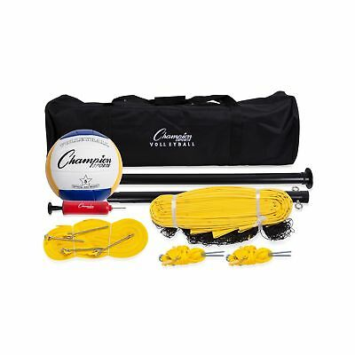 Champion Sports Outdoor Volleyball Set: Complete Portable Team Sports Set wit...