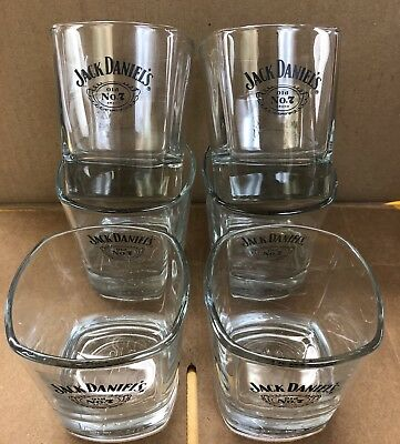 Set of 6  Jack Daniels limit addition glasses