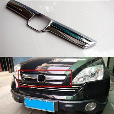 ABS Chrome Front Grill Grille Center Cover Trim For Honda CRV CR-V 2007 08 09 y