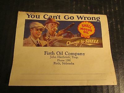 Shell Motor Oil Advertising You Can't Go Wrong Change to Shell circa 1930s