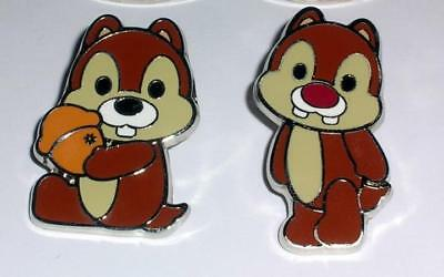CHIP & DALE Cute Characters Cutie Mini Mickey & Friends Disney 2 Pin Set AUTHENT
