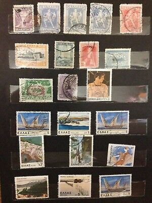 Old collection of Greece stamps