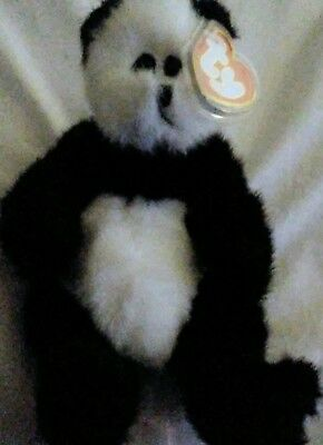 a212ace46d7 TY Beanie Baby Attic Treasures  CHECKERS PANDA  NEW w tags Vintage 1999
