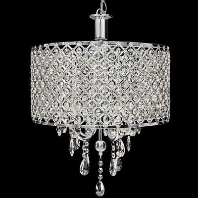 Crystal Hanging Chandelier Ceiling Light Fixture Lighting Dining Living Room NEW