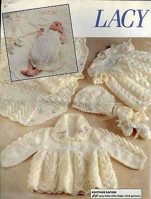 LACY LAYETTE for Babies copy Shawl Dress Coat Bonnet Bootees