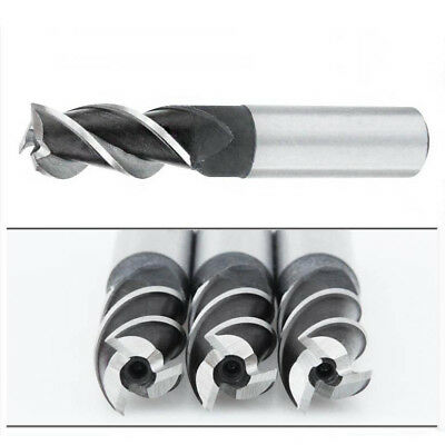 1pc 3 Flutes HSS & Aluminum End Mill Cutter CNC Bit 2mm-20mm as you choose
