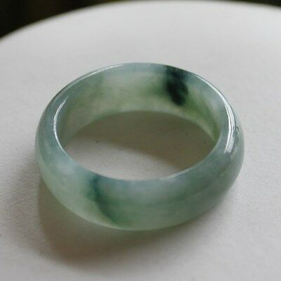 Size 8 1/2 ** CERTIFIED Natural (A) Untreated Oily Green Jadeite JADE Ring #R196