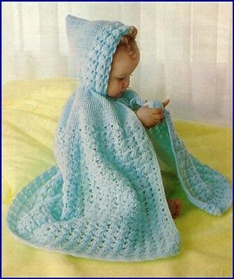 CROCHET Pattern for Baby Copy HOODED CAPE