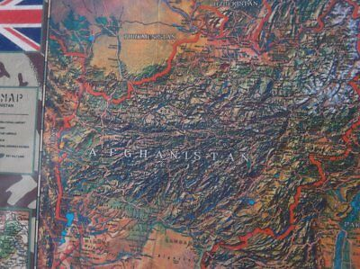 British Survival Map Afghanistan Mission Collection 97X67Cm 38.8X26.8Inches Nip