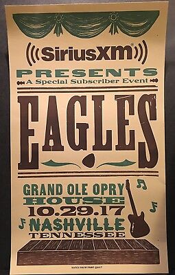 Eagles Grand Ole Opry House Nashville, TN 10/29/17 Hatch Show Print Poster Mint