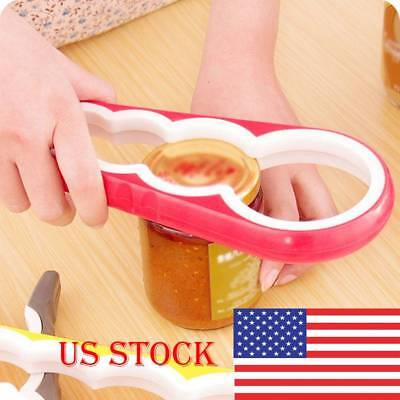 Bottle Jar Lid Can Opener Kitchen Rubber Handle Easy Grip Container Y2