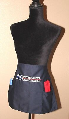 USPS Postal WAIST Apron With Postal Logo Embroidered on Front  with Pockets NAVY