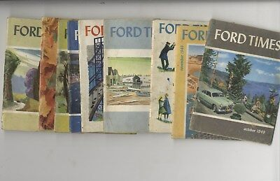Ford Times Magazine 1949 & 1950 Lot of 9 Issues V-8 Custom Fairlane Model T