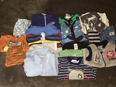 Mixed Lot Baby Boy Winter/spring Clothes 17 Items Size 0