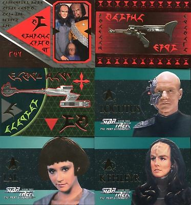 Star Trek Next Generation Episodes Season 3 Embossed Card Set 6 Cards S13-S18