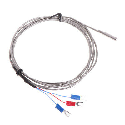 Stainless Steel RTD PT100 Temperature Sensor Thermocouple with 2m 3 Cable Wires
