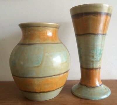 "Old Courtware Vases X 2 - Tallest 7.5"" Tall"