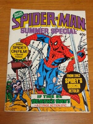Spiderman British Weekly Summer Special 1979 Marvel Punisher