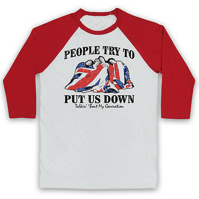 The Who My Generation Unofficial Classic Rock Band 3/4 Sleeve Baseball Tee