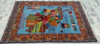 Baluch Rug 7'4x5'5ft Nomadic Afghan Baluch Rug Sheep Wool Large Area rug Vintage